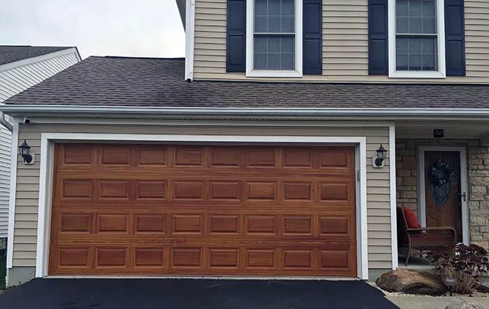 Custom Faux Wood Garage Doors